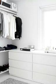 White closet space.