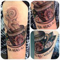 tea tattoo . Done at