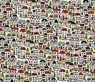 Little houses fabric