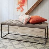 Tufted Bench - Flax