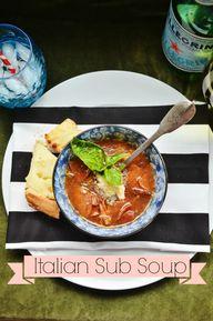 italian sub soup