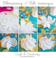 Felt meringue - for