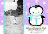Penguin birthday inv