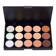 Under 10 dollars ..Neutralize under-eye darkness, conceal blemishes and breakouts, and even out your skin tone with our Eclipse Concealer Palette. Containing fifteen cream based concealers, including twelve different shades that can be combined to create the perfect one for your skin tone,