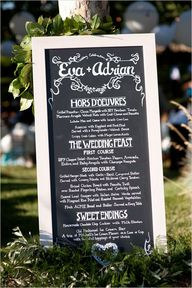 chalkboard wedding m
