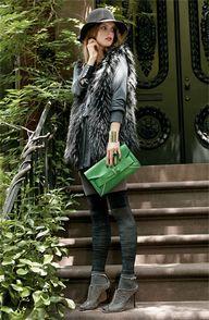 Love this fur vest..