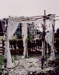 hippie chic wedding chuppah