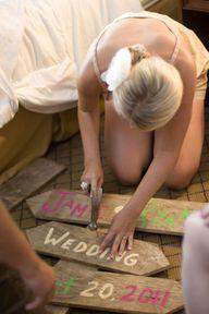 diy wedding sign pre