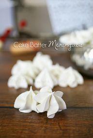 Cake Batter Meringue