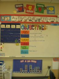 Objectives board wit...