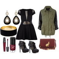 """Military Glam"" by laurafergie88 on Polyvore"