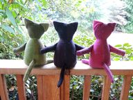 Wool patchwork cats...