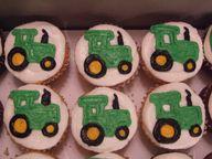 Cute tractor cupcake