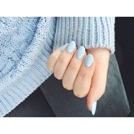 ice blue nails #lamo