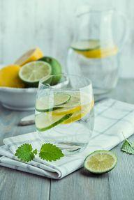 Lemon water and lime