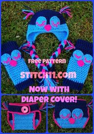 Owl Diaper Cover 0-9