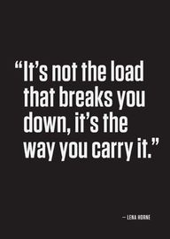 How you carry it...