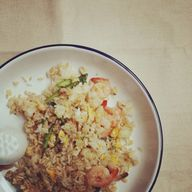 Quick fried rice for