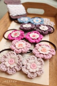 crochet flower pony