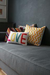 L-O-V-E pillow {for