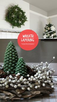 Combine 2 wreaths to