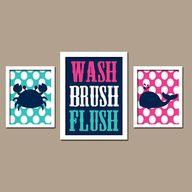wash brush flush