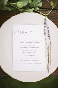 simple menu card + l