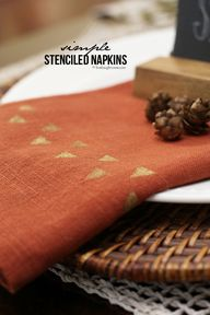 Simple Stenciled Nap