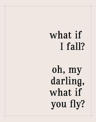 Fall or fly?