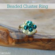 Cluster Beaded Ring