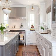White Kitchen Gray I