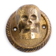 Gold skull hook from