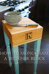 How to Monogram a Bu