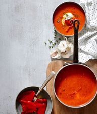 Roast red pepper and