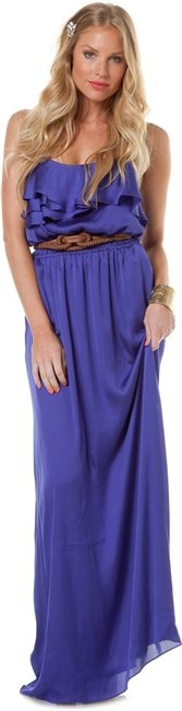 Blue ruffle maxi dress by BCBGeneration at Swell.com
