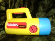 playskool flashlight with red, green, and white light