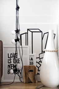 Via Mechant Design | Granit String Lights | Black and White | Nordic Scandinavian