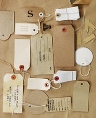 Shop tags assorted,