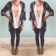 Kimono, leggings, an