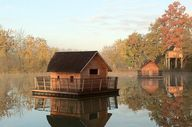 Floating cabins at D