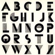 retro block letters