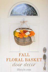 DIY Fall Floral Bask