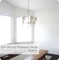DIY Wood Planked Wal