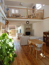 garde corps mezzanine, design en bois de balustrade intérieure