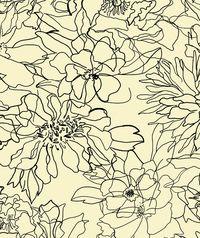Floral Sketch textile pattern by Rebecca Klementovich
