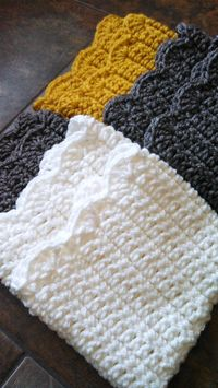 Scalloped Boot Cuffs pattern by Jenny Dickens