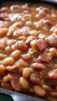 The Best Slow Cooker Baked Beans. Tried this recipe and it was delicious! Make sure you have crock pot on low setting. ♥♥♥♥♥