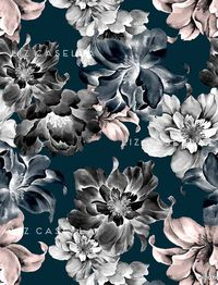 Liz Casella - painted floral print                                                                                                                                                                                 More