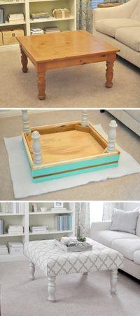 How to Make Upholstered Ottoman - DIY & Crafts - Handimania