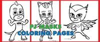 Free PDF download of PJ Masks coloring pages - Catboy, Gekko, and Owlette   From RocketMommy.com